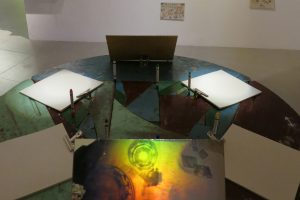 Around the Table hologram map installation