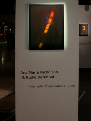 Ana Maria Nicholson & Rudie Berkhout, 'Holographic Collaborations', 1989, exhibition view INTERFERENCE:COEXISTENCE, 2014